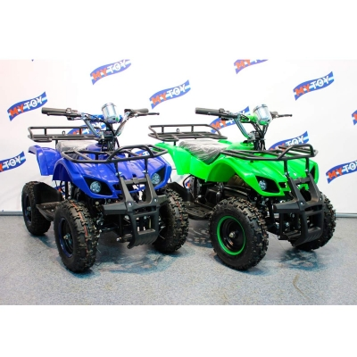 Детские электроквадроциклы Mytoy 800N синий, зеленый