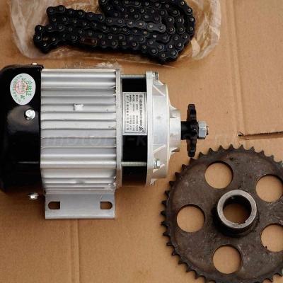 Электромотор 24-36-48В 500Вт набор с цепью и ведомой звездой