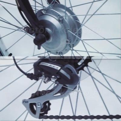 Переднее мотор-колесо электровелосипеда Black Aqua E-Road 700С