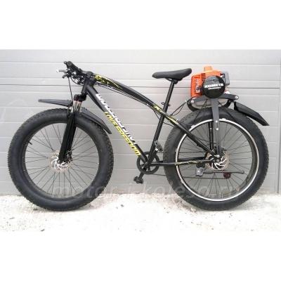 Fatbike фэтбайк с бензиновым мотором Комета, модель 2016