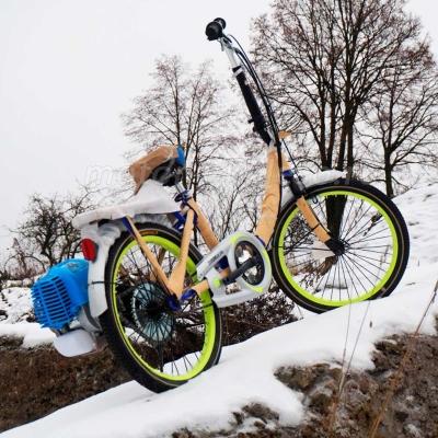 Велосипед Motax Lampa с бензиновым мотором.