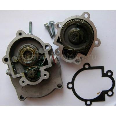 Редуктор 5:1 для веломотора в разборе