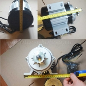Размеры электромотора 48В 500Вт с редуктором.