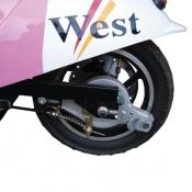 PS-350 заднее колесо с барабанным тормозом и цепной передачей