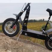 Электросамокат TREK с гидравлическими тормозами Hayes  и большими колесами, 48В 1000Вт LiFePO4