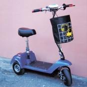 Трехколесный электросамокат SF-8 с корзиной