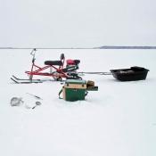 Снегоход Хаски и сани-волокуши