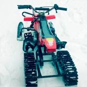 Snowquadro SQ-1 детский квадроцикл-вездеход летом, снегоход зимой