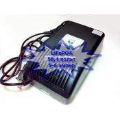 Зарядное устройство LiFePO4 48В (58,4V) 5-6А с вольт-амперметром