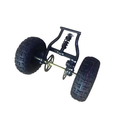 Задний колесный модуль детского снегохода с осью и рамой